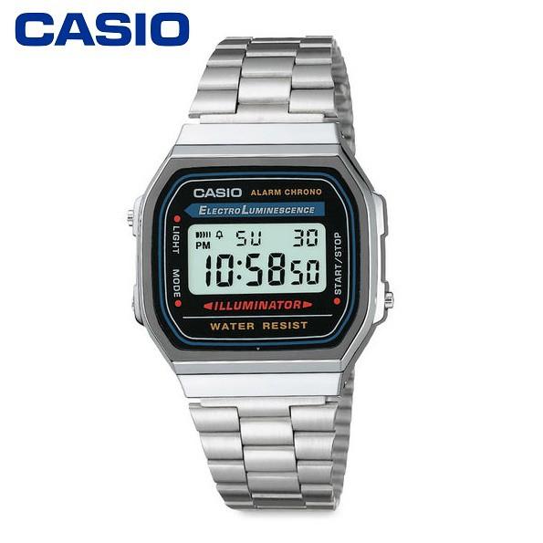 【CASIO】A168WA-1 復古造型電子錶/經典百搭/男女通用款/36mm【第一鐘錶】