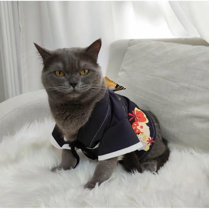 鬼滅之刃 周邊 寵物 無慘 cos貓衣服 和服 羽織