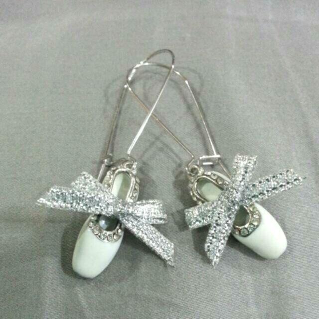 芭蕾舞鞋耳環