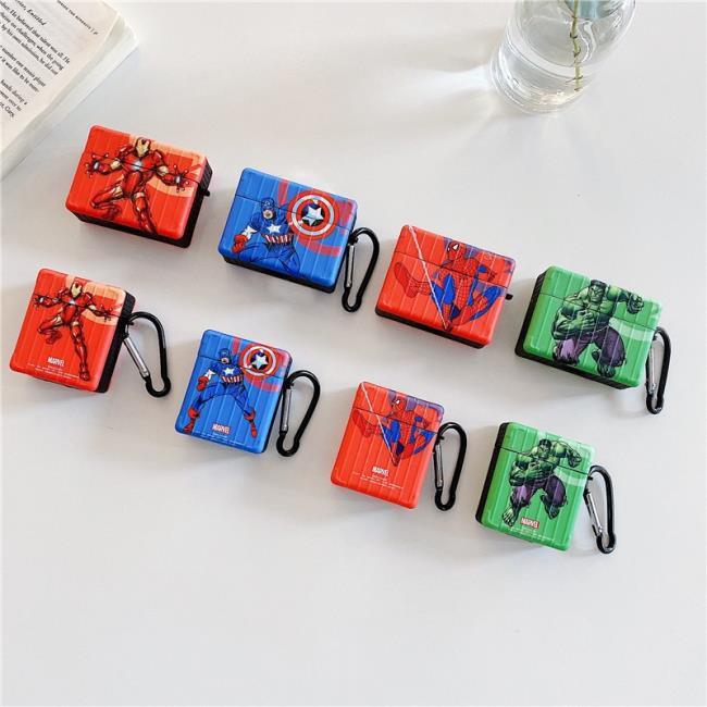 防塵防摔 蜘蛛俠 Airpods Pro 卡通保護套 漫威鋼鐵俠 Airpods耳機套 英雄 Airpods2 保護軟套