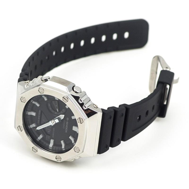 代用G-SHOK卡西歐金屬表殼表帶GA-2100 手表改裝配件 八角形