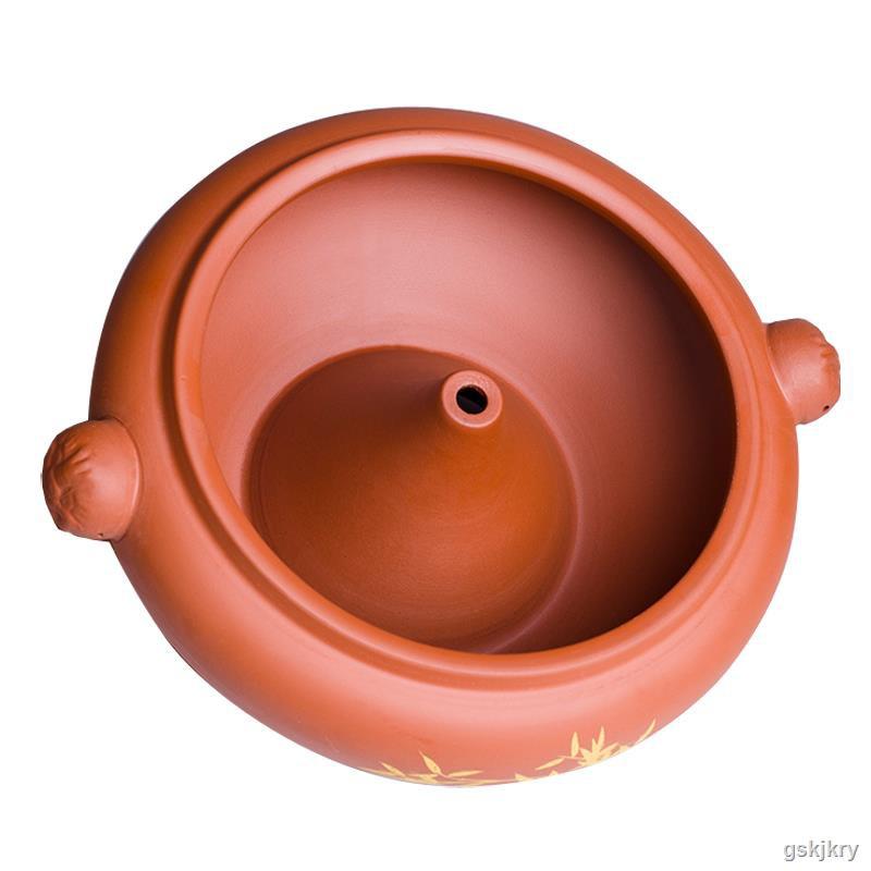 3.31汽鍋雞汽鍋家用陶瓷加厚云南建水商用紫陶小氣鍋燉鍋砂鍋大容量