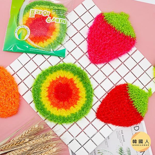 【韓國人】開立雲端發票☛ 韓國 不沾油洗碗巾 單入 菜瓜布 洗碗布 草莓菜瓜布