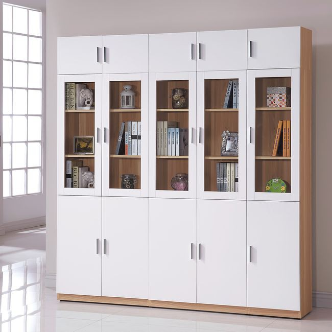 【HB482-01】艾美北歐2.7尺六門高書櫃