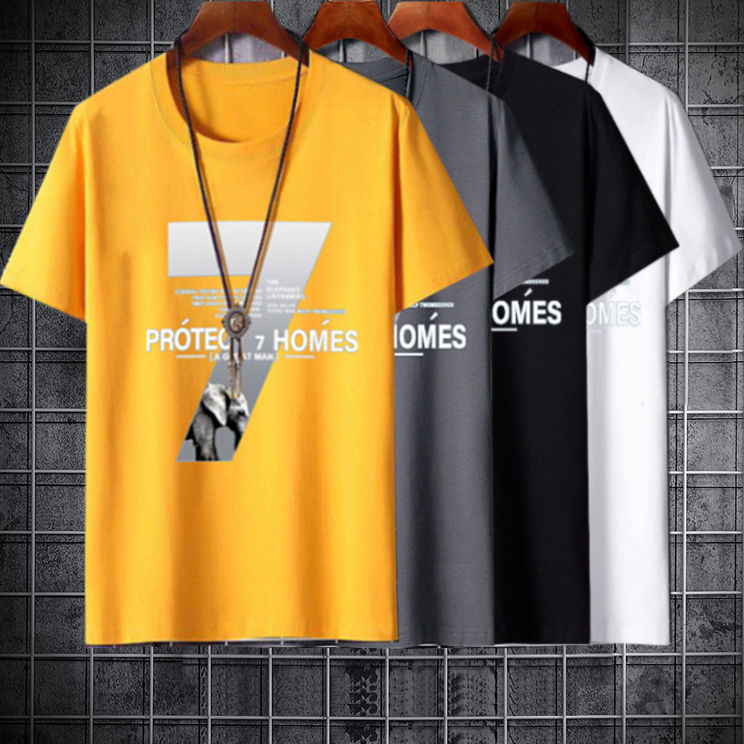 韓版 現貨 T恤 短袖T恤 男生新款圓領潮流修身T恤 夏季青少年短袖T恤