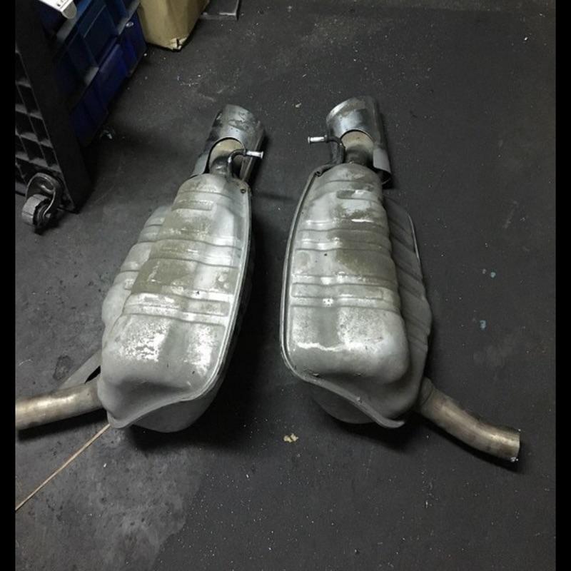 Benz w211 w219 AMG 原廠雙出排氣管
