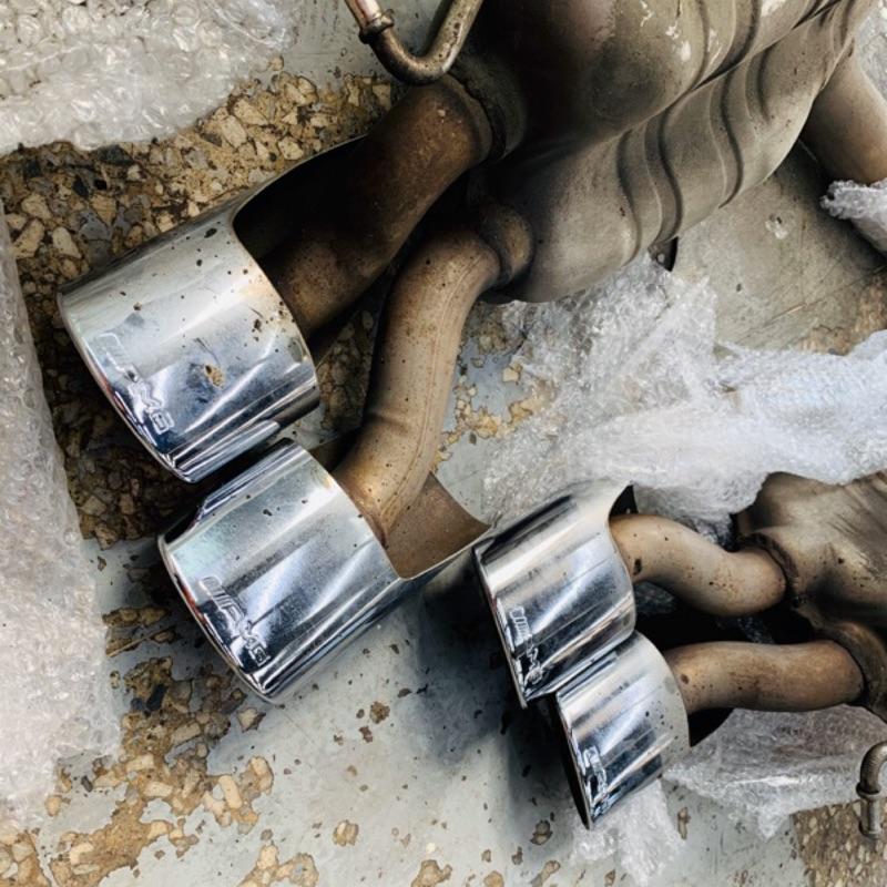 賓士W211 E63 AMG 原廠尾桶 #AMG #排氣管 #改裝