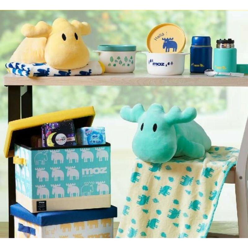 全聯 MOZ用品 / A4收納板凳/陶瓷碗盤組/真空悶燒罐/玩偶毛毯組