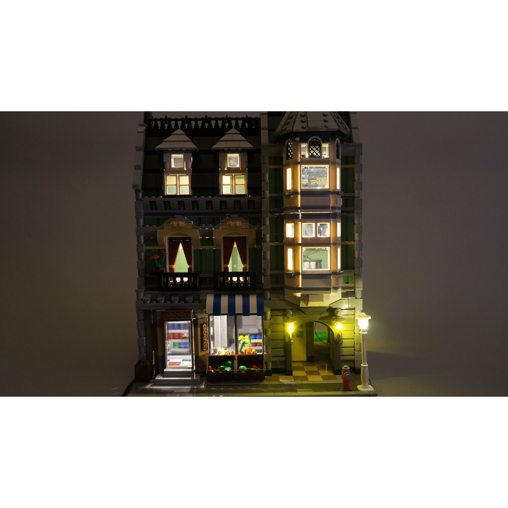 【WBS】樂光創意 Lego 10185 Green Grocer 綠色市集  樂高 專用 燈組
