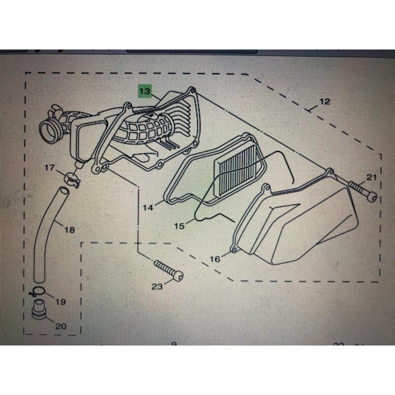 🈶發票《零件坊》5s9 BWSX GTR aero 勁戰四代 五代 BWSR 山葉原廠 公司貨 空濾總成 空濾內箱
