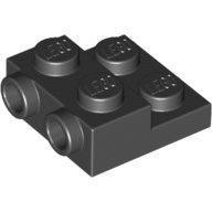 LEGO 6052126 99206 黑色 2x2 2/3 側接轉向 薄板