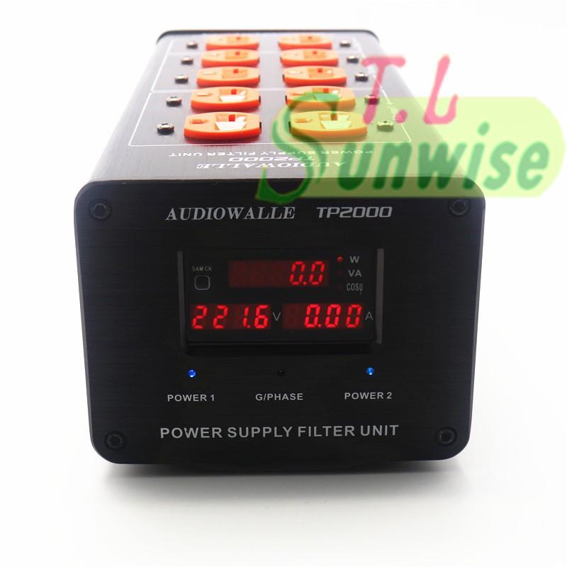 TP2000 專業級 電源濾波器 LED版 5顯示 10孔美式插座 雙濾波 帶2個直通 升級 AC8.8 TP1000