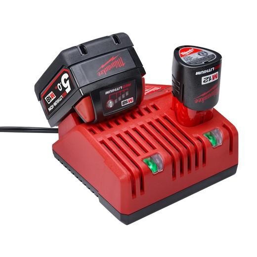 米沃奇M12-18C雙用原廠充電器+5.0電池*2
