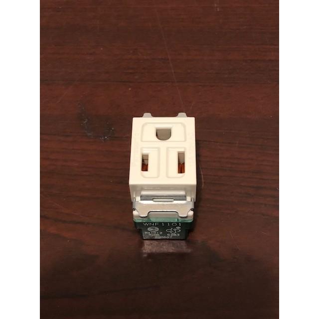 【勁來買】Panasonic 國際牌 WNF1101 米色 牙色 雙插座無接地 松下電工 台灣製造 WNF-1101