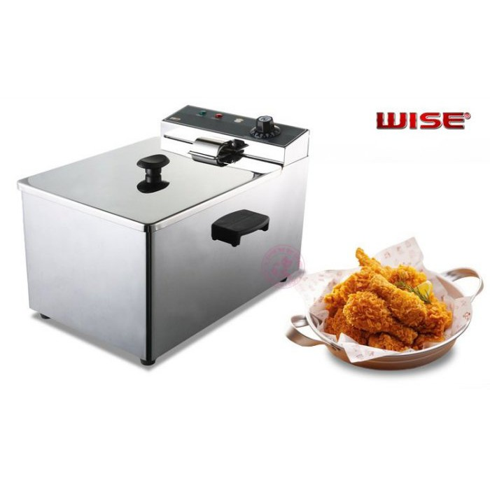 【蓋瑞A店】(WISE) 8公升桌上型油炸機(110V / 220V)