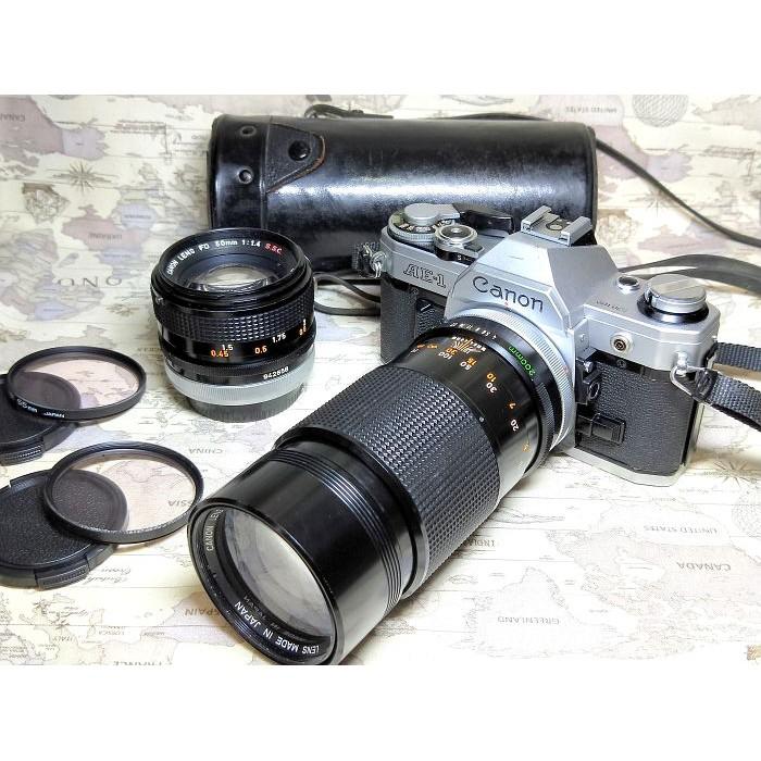 【跳蚤小舖子】 Canon AE-1 + FD 50/1.4SSC + 200/4SSC 經典銘機//完動良品