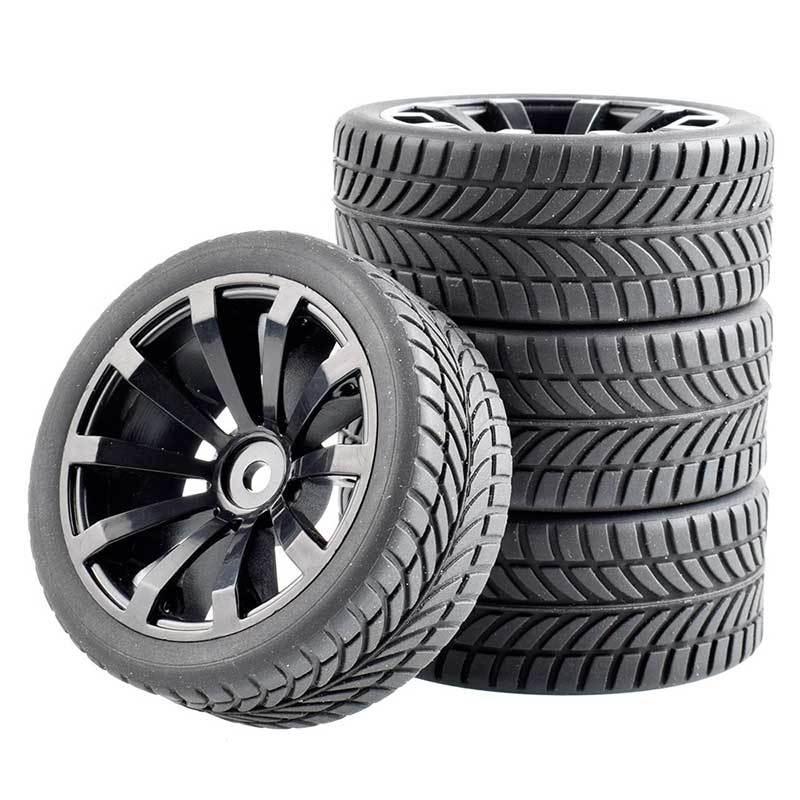 1:10平跑輪胎64mm競速胎抓地力強HPI94123櫻花D4D3田宮94122帶內膽