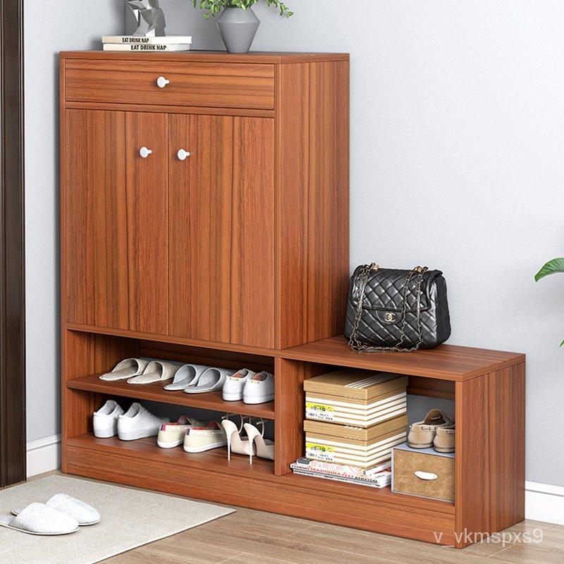 鞋櫃換鞋凳家用進門口可坐收納櫃玄關櫃穿鞋凳多功能簡易實木鞋架