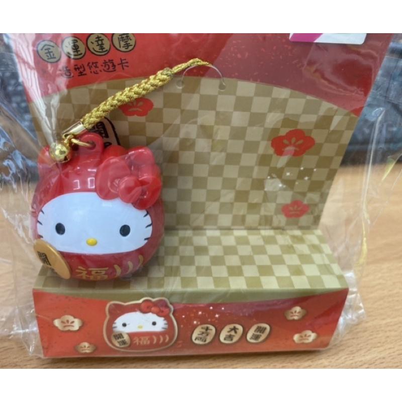 Hello Kitty金運達摩3D造型悠遊卡 現貨 限量
