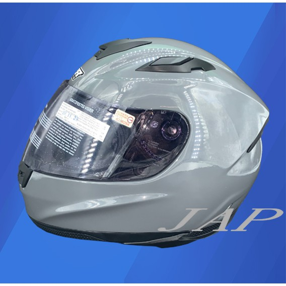 M2R  F2C 素色 F2-C 水泥灰 安全帽全罩 全可拆洗 複合玻纖帽體 超輕量化