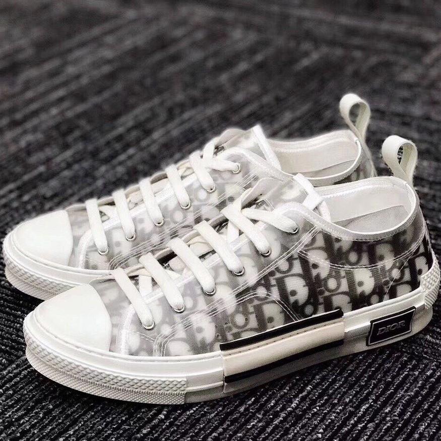 訂金《猴你鞋》Dior x Kaws B23 Oblique Low 白色 印花 透明 滿版 LOGO 低筒 男女鞋