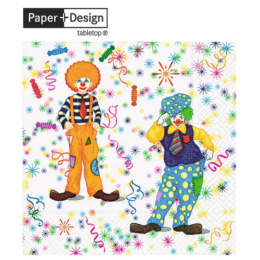 Paper+Design 德國進口餐巾紙 小丑 Clowns 20張/包