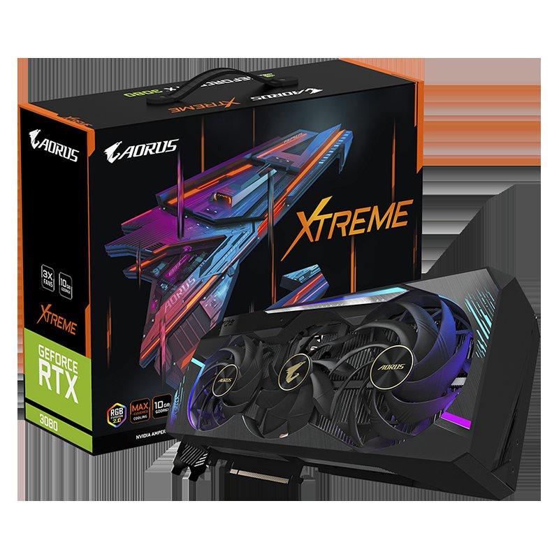 技嘉 GeForce RTX 3080 MASTER 10G超級雕魔鷹雪鷹遊戲顯卡鎖算力