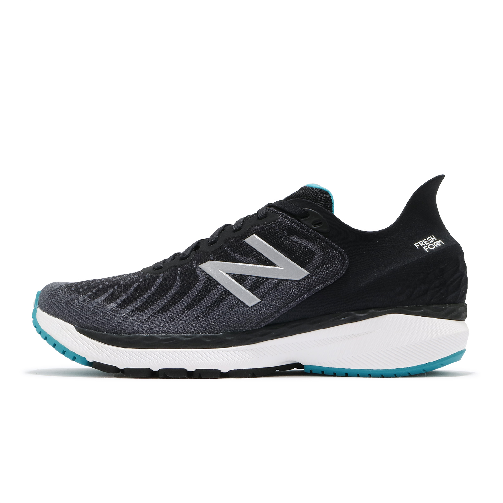 New Balance 慢跑鞋 860 超寬楦 男 支撐型 黑 銀 路跑 馬拉松 運動鞋【ACS】 M860N114E