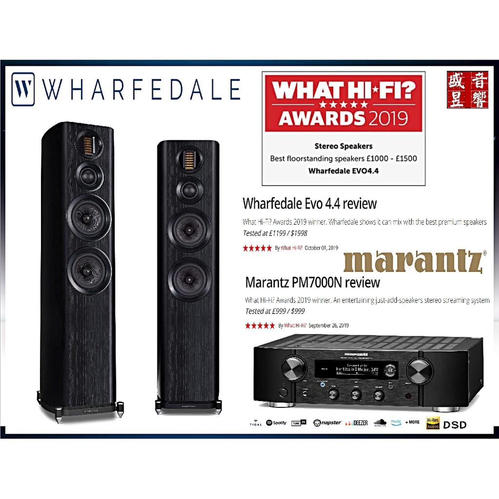 『盛昱音響』英國 Wharfedale EVO 4.4 落地喇叭+日本 Marantz PM7000N 綜合擴大機-現貨