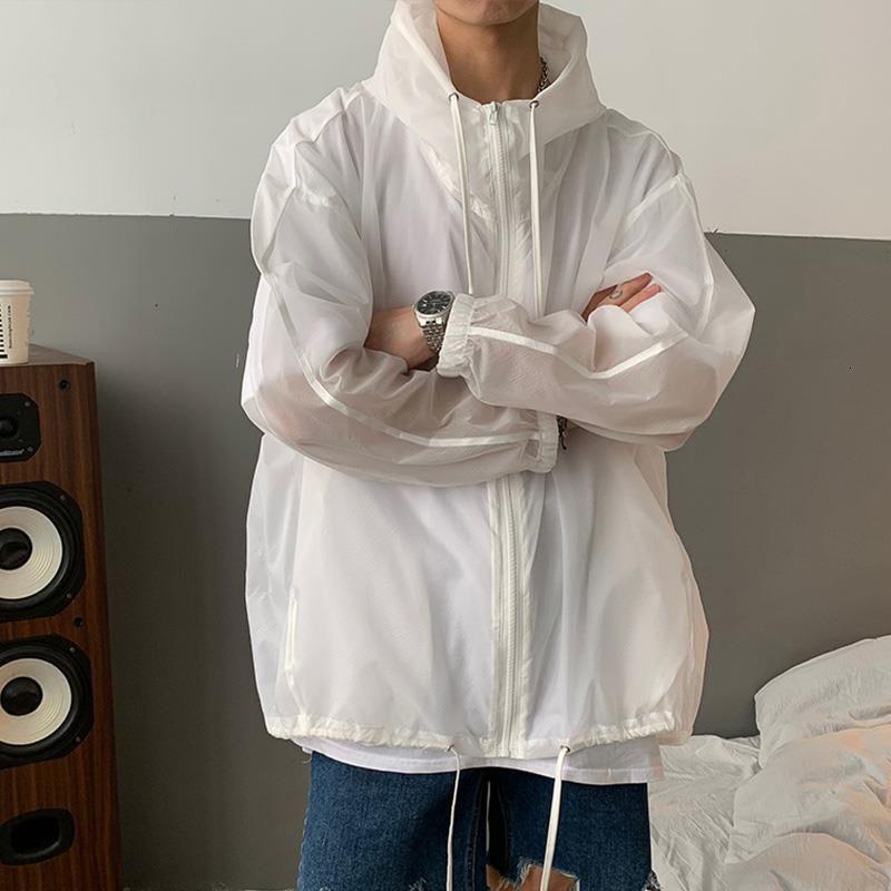 機能防護夾克 機能防護外套 防曬衣服男士夏季潮牌大碼工裝夾克男生chic港風韓版寬鬆薄款外套