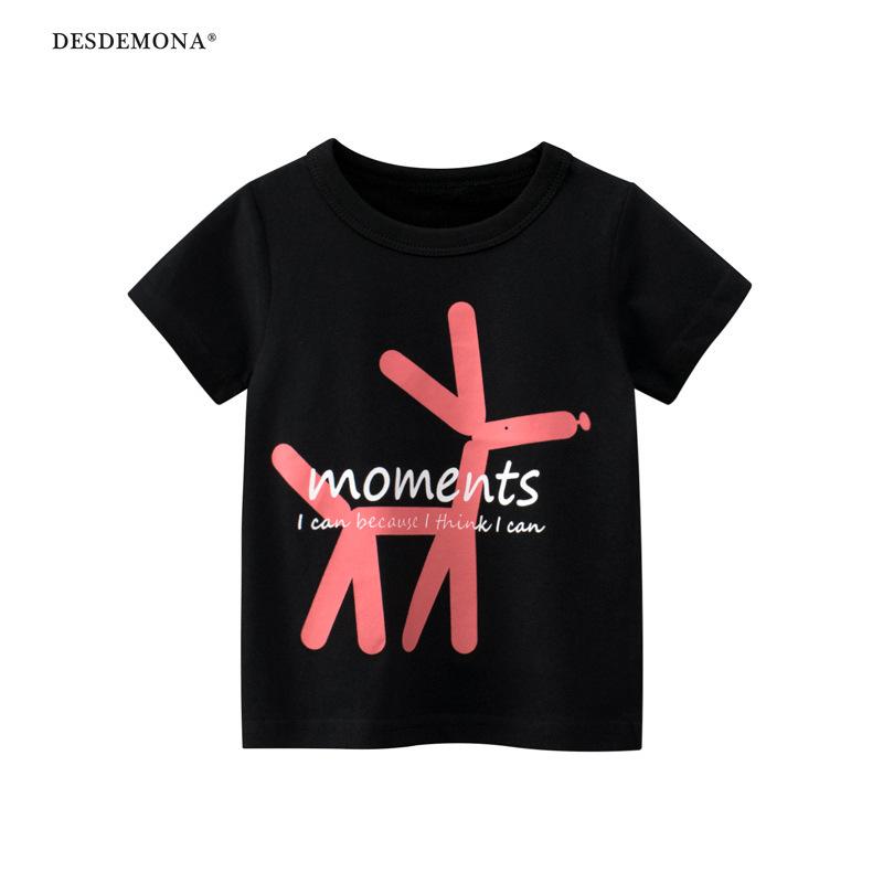 品牌韓版童裝2021夏季新款 兒童短袖T恤女童半袖寶寶衣服 女童純棉短袖上衣
