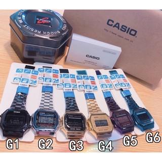 卡西歐金色復刻版復古潮流金錶方型數位電子錶中性男女可戴 屏東縣