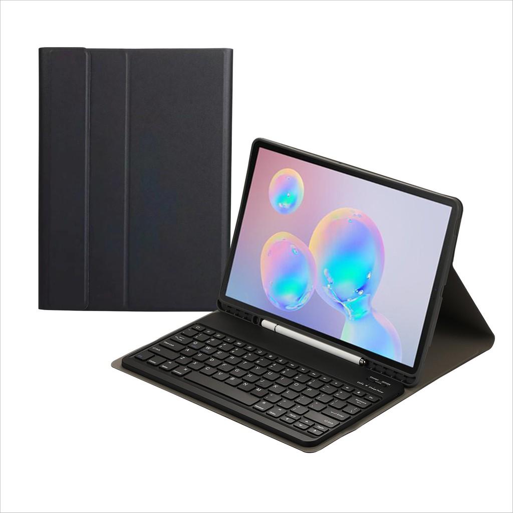 三星Samsung Galaxy Tab S7 FE 2021 / S7 Plus 藍芽鍵盤保護套 內置筆槽 註音鍵盤