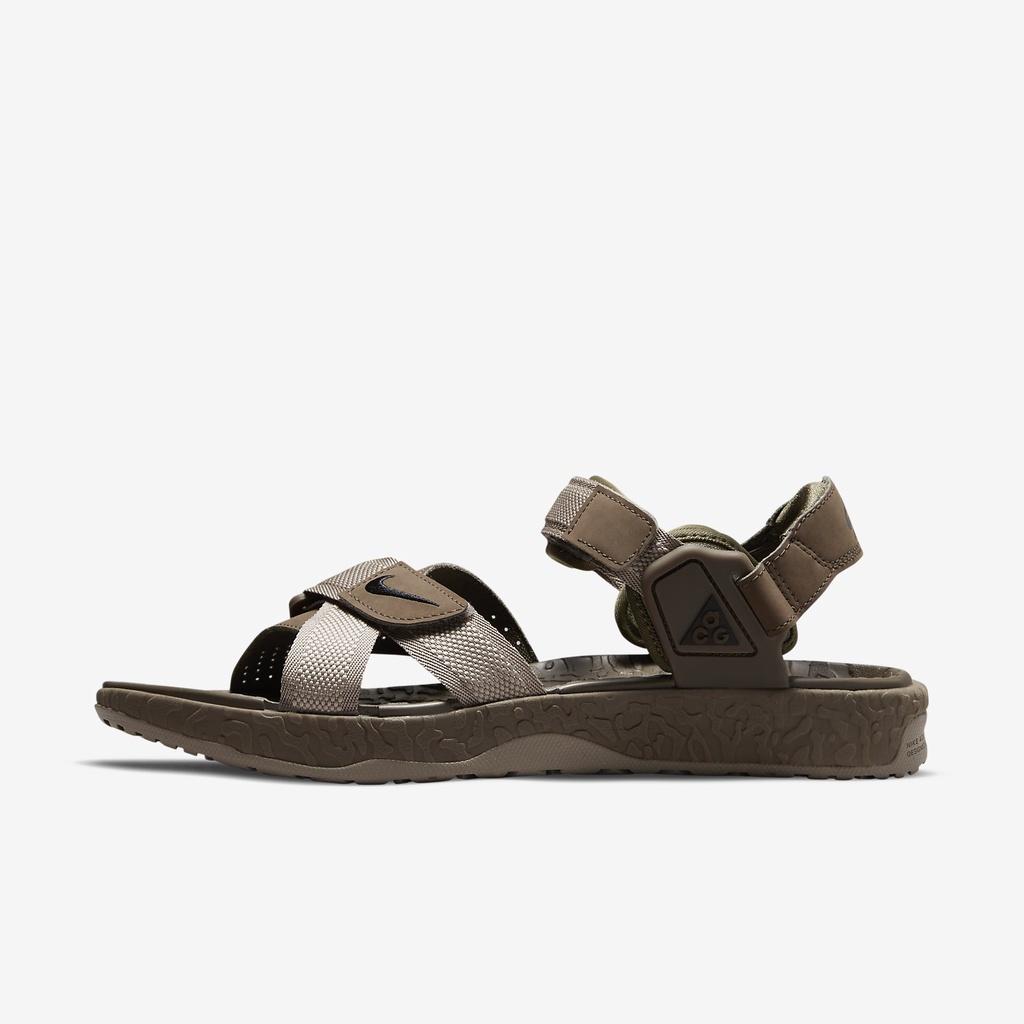 Nike 涼鞋 ACG Air Deschutz 咖啡 卡其 魔鬼氈 戶外 男鞋 涼拖鞋【ACS】 DC9092-001
