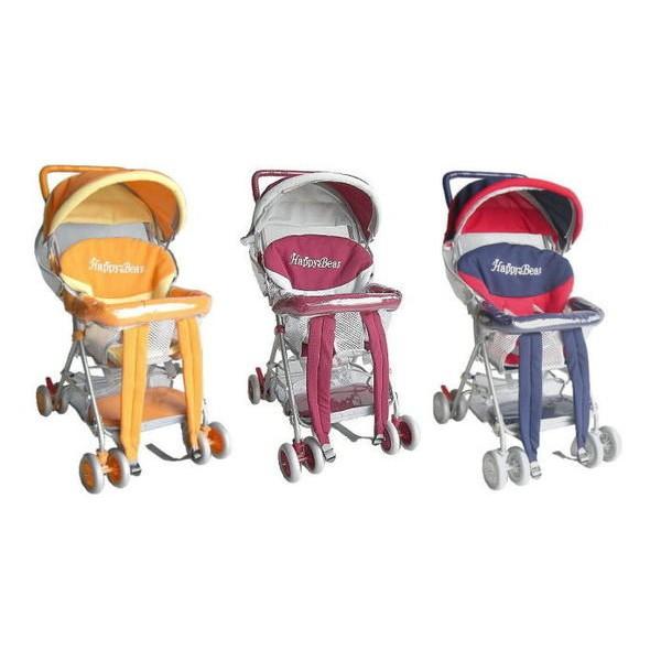 Happy Bear豪華型全罩式透氣三用揹架手推車~背架車~機車椅~加軟坐墊~台灣製