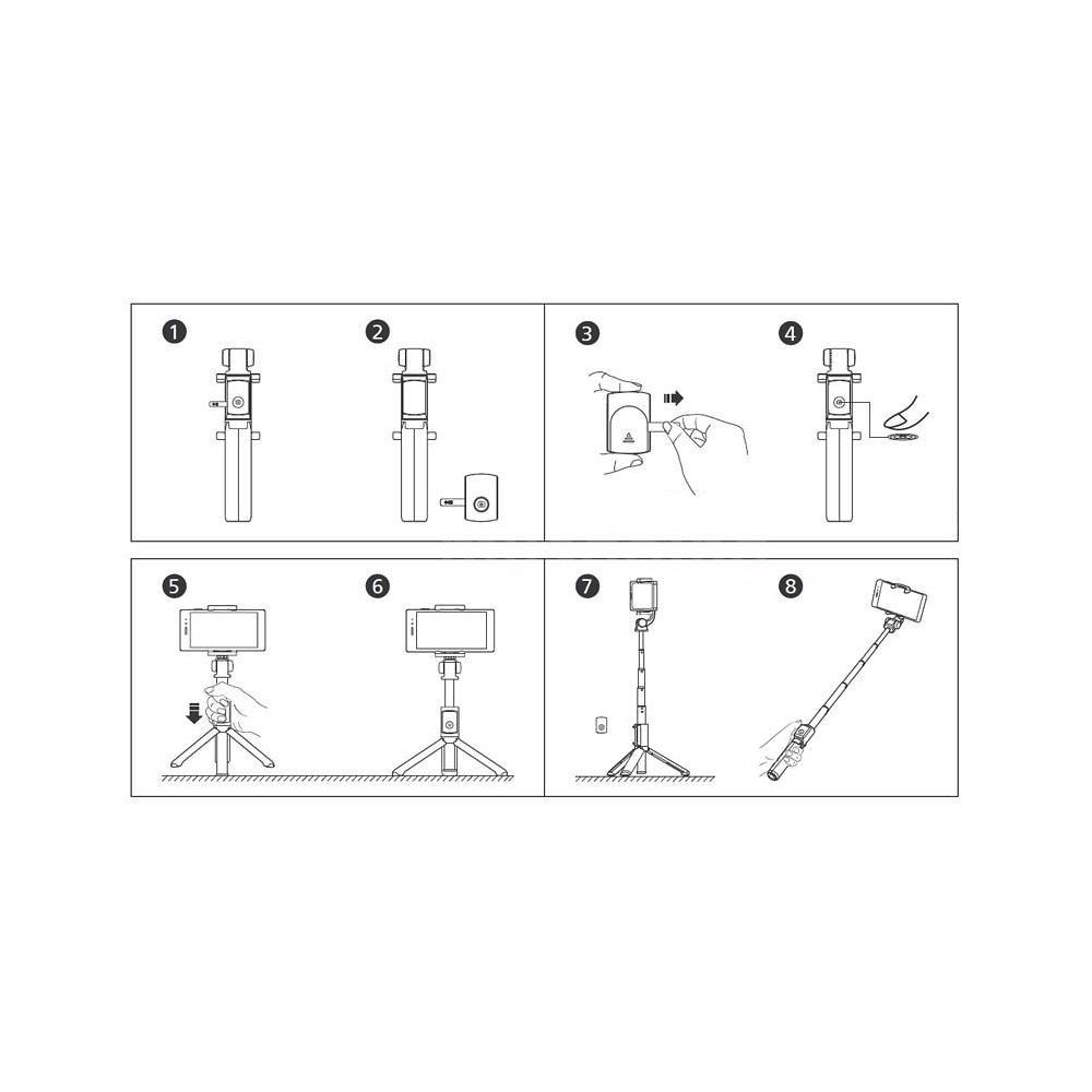 華為AF15 三腳架自拍杆黑色(logo 為huawei)