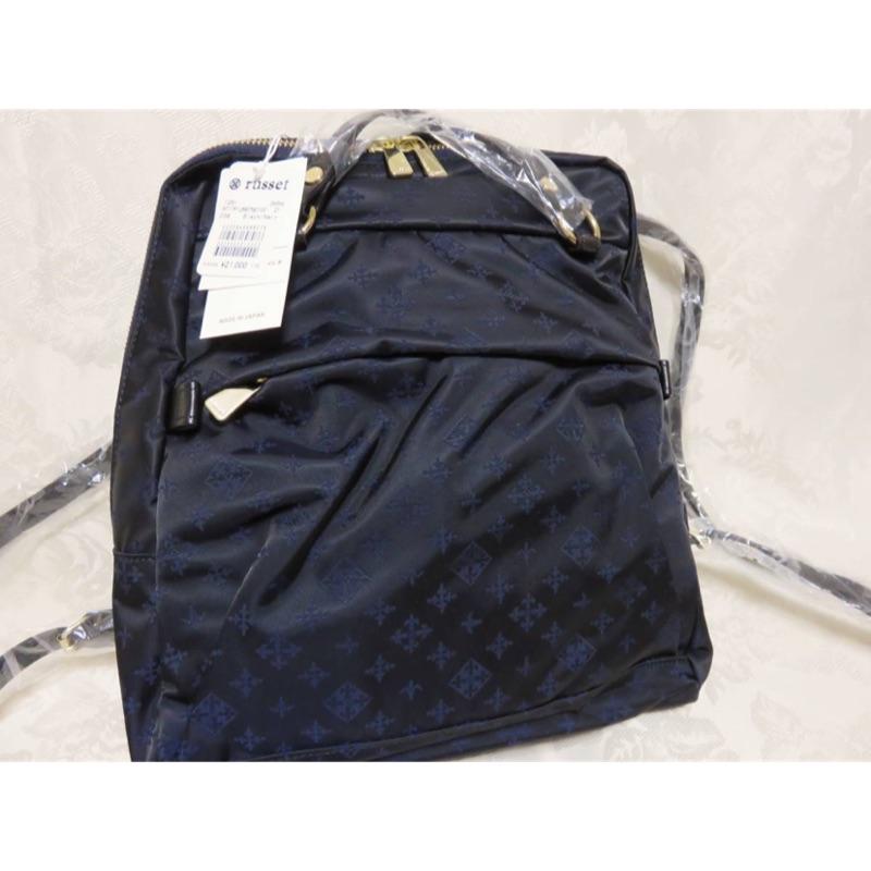 Russet 全新 二用背包 側背包 後背包 深藍