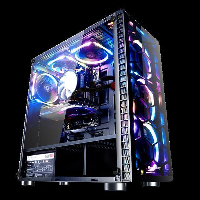 【現貨 免運】AMD獨顯 吃雞LOL游戲 DIY組裝電腦主機辦公臺式高配網吧高端整機全套送顯示器gta5 電腦主機 電腦
