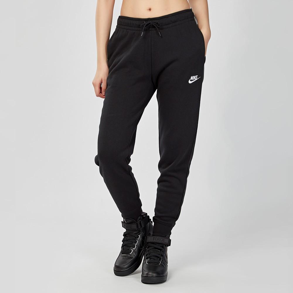 Nike Sportswear Essential 女子 黑色 刷毛 抽繩 運動 縮口 長褲 BV4096-010