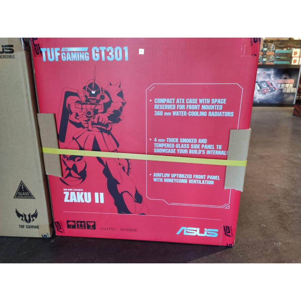 現貨 華碩 ASUS TUF Gaming GT301 ZAKU II 鋼彈限定版/活動式耳機架/RGB風扇 電競機殼