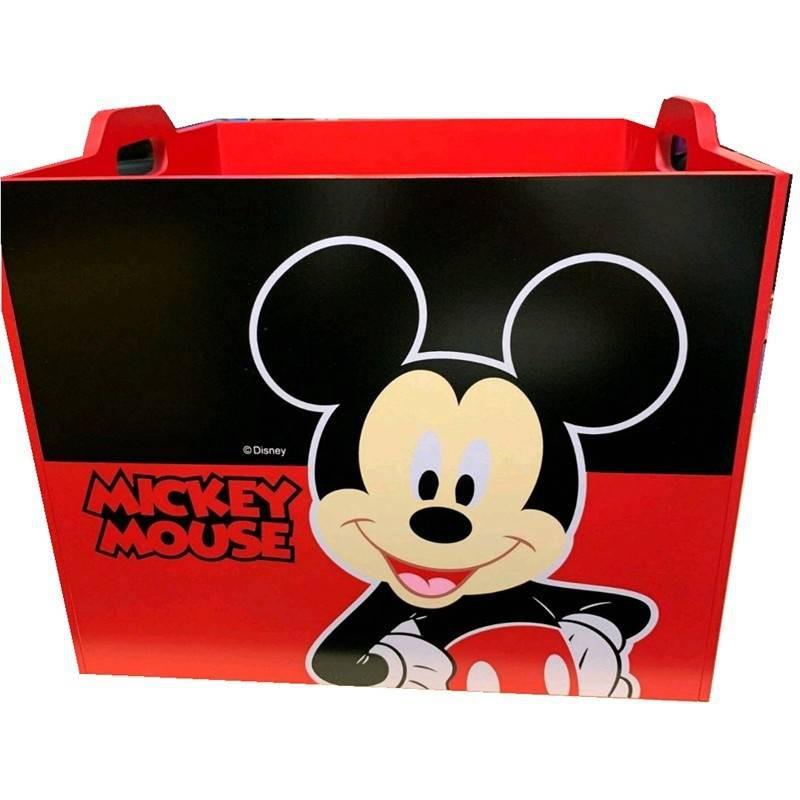 米奇木製收納箱 迪士尼 正版授權 米奇收納盒 收納盒 置物盒 化妝箱 收納 小物收納 桌面整理盒 木製 收納箱