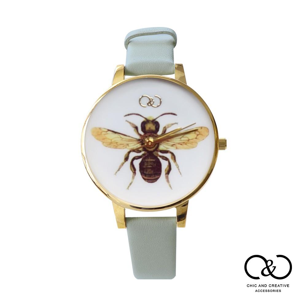 【C&C】義大利蜜蜂印花腕錶_W-CC-Y026