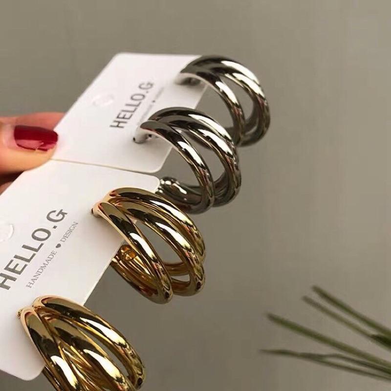 三圈圈耳環(金色/銀色)