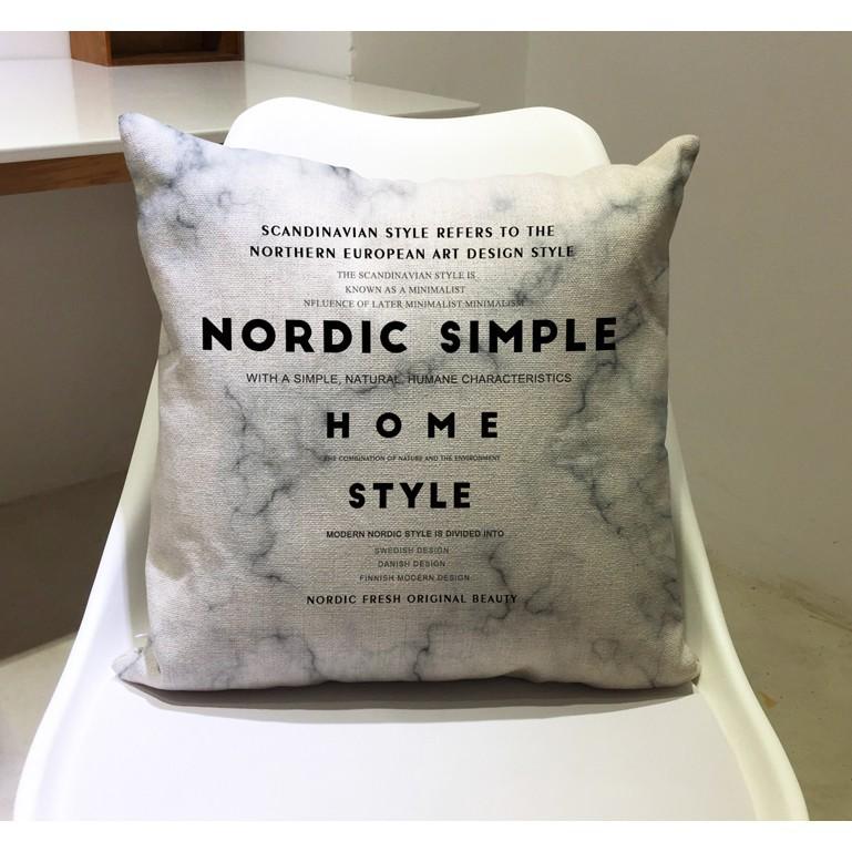 【夢露生活館】北歐簡約逼格設計棉麻抱枕 咖啡店靠墊客廳沙發辦公室靠枕簡約