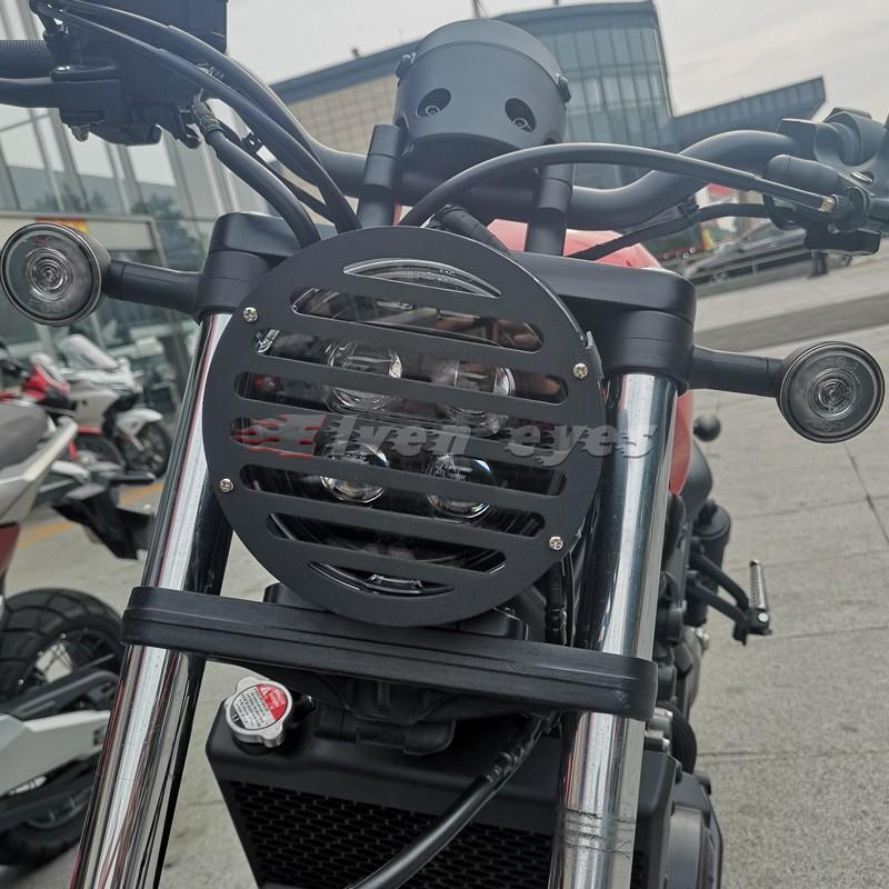 ✨✨【現貨】℡✔♙新款本田叛逆者CM500 RebeL 500 2020年改裝大燈網 大燈保護罩