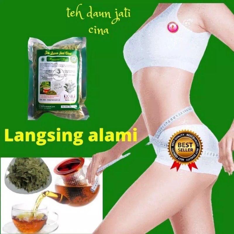 Teh Daun Jati China Peluntur Lemak 100% Original