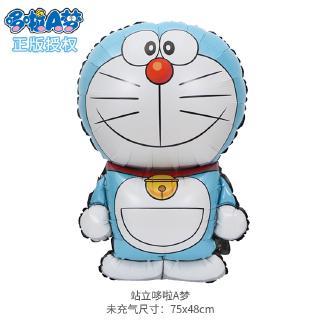 現貨正版哆啦A夢大號站立叮噹貓鋁膜氣球 兒童生日裝飾卡通機器貓氣球