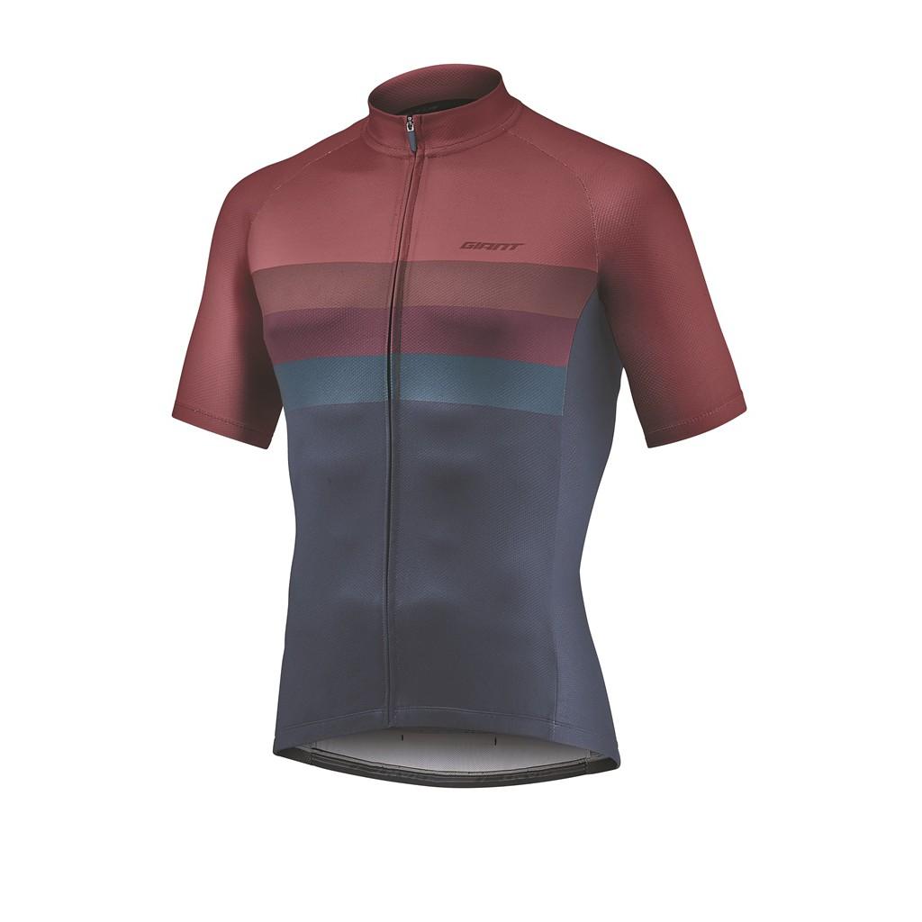 正版現貨【2021最新色】捷安特 GIANT  RIVAL 短袖車衣 酒紅色 自行車車衣 保證原廠