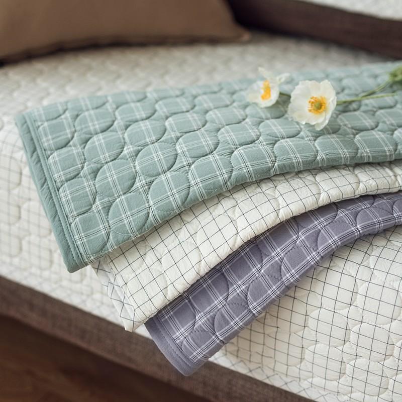 乳膠沙發墊北歐簡約現代格子條紋全棉四季通用沙發墊子坐墊加厚