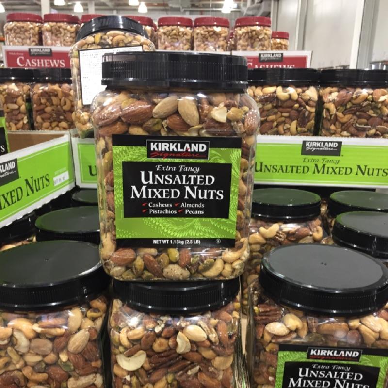 COSTCO好市多代購 kirkland 無調味堅果(腰果、杏仁、開心果、胡桃) 1.13公斤